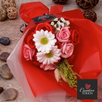 Deluxe Bouquet Soap Flowers - Red