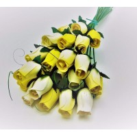 Yellow / Cream - 24 Rose Bouquet