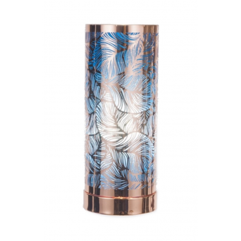 Touch Control Aroma Lamp - Rose Gold / Blue Leaf Design