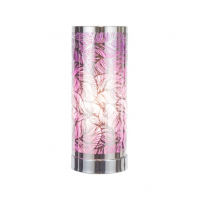 Touch Control Wax Aroma Lamp - Silver / Purple Leaf Design