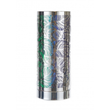 Touch Control Wax Aroma Lamp - Silver / Rainbow Leaf Design
