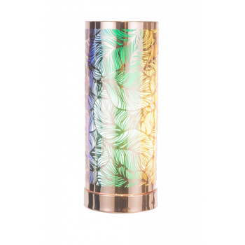 Touch Control Aroma Lamp - Rose Gold / Rainbow Leaf Design