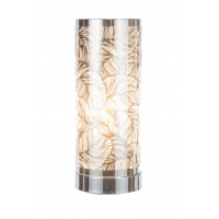 Touch Control Wax Aroma Lamp - Silver / White Leaf Design