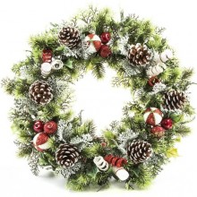 "18"" Xmas Wreath - Candy Cane"