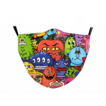Children's Face Mask - Colorful Monsters