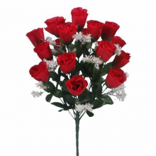 18 Head Red Rose Bush