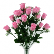 18 Head Pink Rose Bush