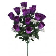 18 Head Purple Rose Bush