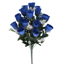 18 Head Royal Blue Rose Bush