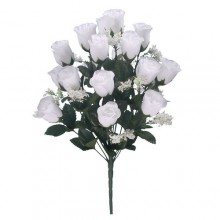 18 Head White Rose Bush