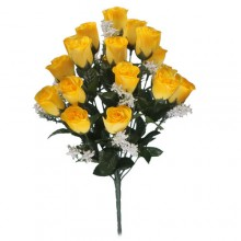 18 Head Yellow Rose Bush