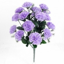 18 Head Lilac Carnation Bush