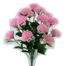 18 Head Pink Carnation Bush
