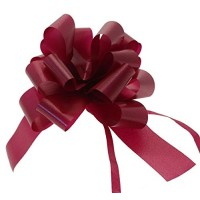 Burgundy - Pull Bows - Pack of 30 x 30mm