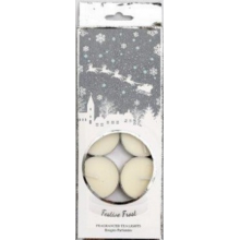 Festive Frost Fragranced Tea Lights - 10 Pack