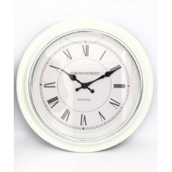 Bond Street Wall Clock (White)
