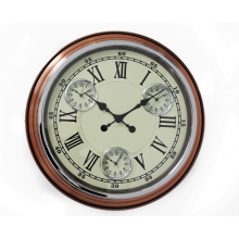 Copper Wall Clock - 51cm Multi Clock