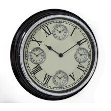 Black Wall Clock - 51cm Multi Clock