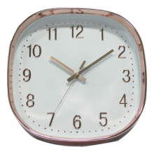 Copper Wall Clock - White Face