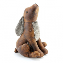 Hare Faux Leather Door Stop