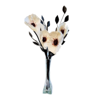 50cm Poppy Display - Cream