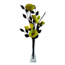 50cm Poppy Display - Lime
