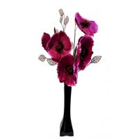 50cm Poppy Display - Pink