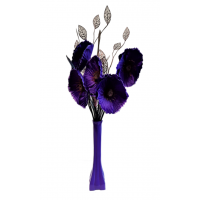 50cm Poppy Display - Purple