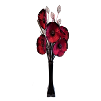 50cm Poppy Display - Dark Red