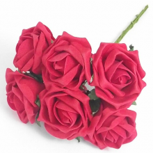 12 Colourfast Foam Roses - Red