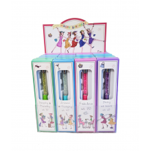 24 Boxed Set Birthday Pens - Glitter tops