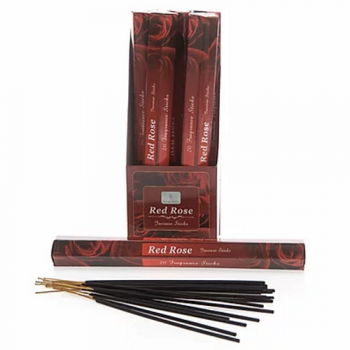 Sense Aroma 6 x 20 Fragrance Incense Sticks - Red Rose