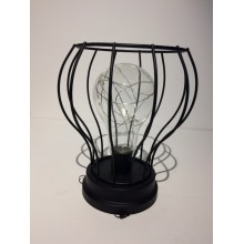 LED Cage Light - Black - Rounded