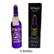 6 x Wine Question LED  Bottle - 30cm - Wholesale