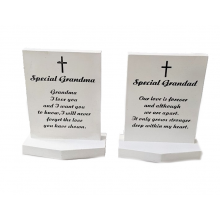 6 x Grave Headstone - Special Grandad and Special Grandma