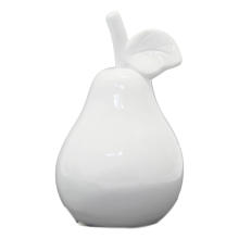 3 x Ceramic White Pear - Small