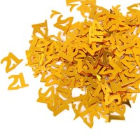 Gold 21st Birthday Confetti - 14g