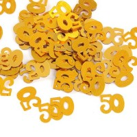 Gold 50th Birthday Confetti - 14g