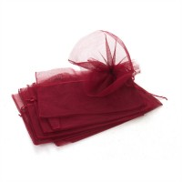 5 x Bouquet Pull Nets - Burgundy