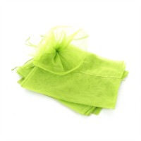 5 x Bouquet Pull Nets - Lime Green