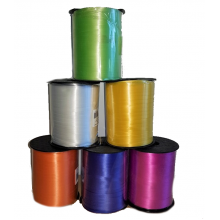 6 Random Coloured Rolls Curling Ribbon - Damaged Tops  * CLEARANCE *