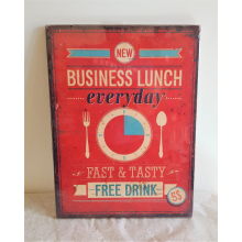 Business Lunch - Message Plaque