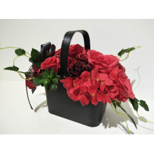 Deluxe Soap Flower Basket - Red