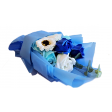 Scented Soap Rose Bouquet - Blue