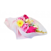 Scented Soap Rose Bouquet - Pink