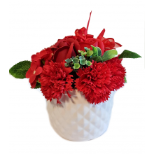 Christmas Soap Flower Gift - Red