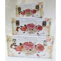 Rose & Butterfly - 3 Set Storage Box