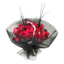 Bouquet Of 50 Dark Red Roses
