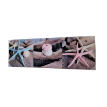 Landon Tyler 90 cm Glass Starfish Wall Art, Pink and Blue