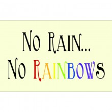 No Rain Message Plaque